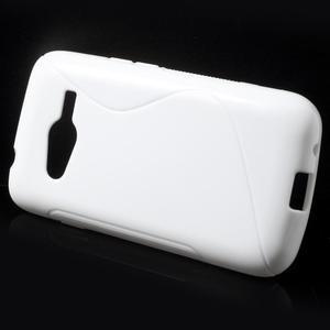Gelové s-line pouzdro na Samsung Galaxy Ace 4 - bílé - 2