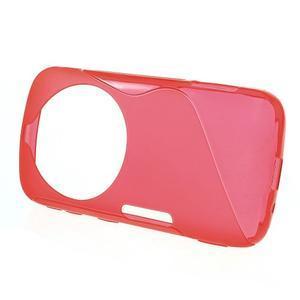 Červený s-line gelový kryt na Samsung Galaxy K Zoom C115 - 2