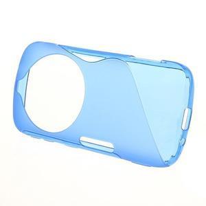 Modrý s-line gelový kryt na Samsung Galaxy K Zoom C115 - 2