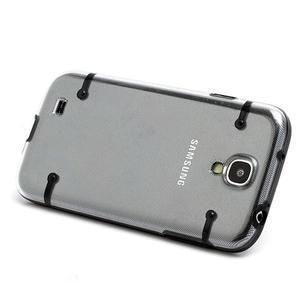 Obal na mobil se svítícími hranami na Samsung Galaxy S4 - černé - 2