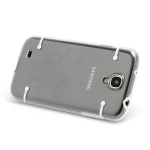 Obal na mobil se svítícími hranami na Samsung Galaxy S4 - bílé - 2