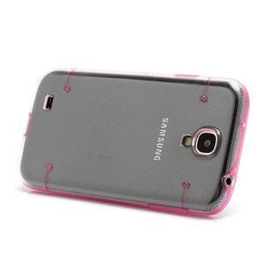 Obal na mobil se svítícími hranami na Samsung Galaxy S4 - růžové - 2