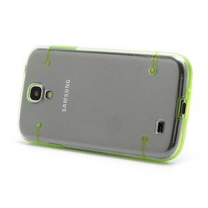 Obal na mobil se svítícími hranami na Samsung Galaxy S4 - zelené - 2