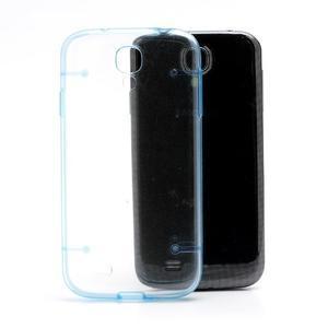 Obal na mobil se svítícími hranami na Samsung Galaxy S4 - modré - 2