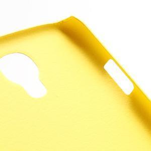 Plastové poudro na Samsung Galaxy S4 - žluté - 2