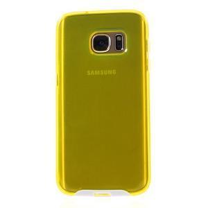 Dvoudílný obal na mobil Samsung Galaxy S7 - žlutý - 2