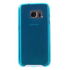 Dvoudílný obal na mobil Samsung Galaxy S7 - modrý - 2