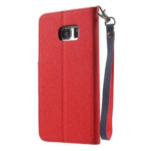 Mercury Orig PU kožené pouzdro na Samsung Galaxy S7 - červené - 2