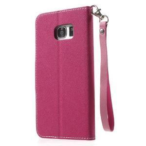 Mercury Orig PU kožené pouzdro na Samsung Galaxy S7 Edge - rose - 2