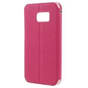 Diary pouzdro s okýnkem na Samsung Galaxy S7 - rose - 2