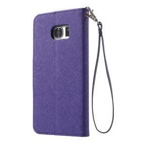 Mercury Orig PU kožené pouzdro na Samsung Galaxy S7 Edge - fialové - 2
