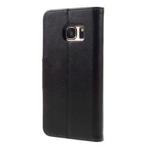 Rich PU kožené peněženkové pouzdro na Samsung Galaxy S7 - černé - 2