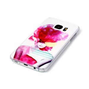 Plastový obal na mobil Samsung Galaxy S7 - dívka - 2