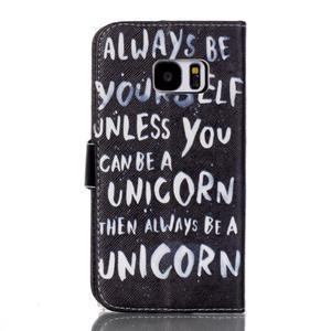 Cross peněženkové pouzdro na Samsung Galaxy S7 - unicorn - 2