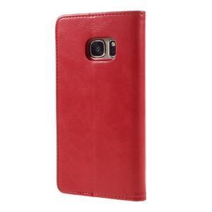 Moon PU kožené pouzdro na mobil Samsung Galaxy S7 - červené - 2