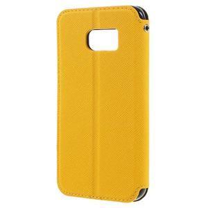 Diary pouzdro s okýnkem na Samsung Galaxy S7 - žluté - 2