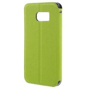Diary pouzdro s okýnkem na Samsung Galaxy S7 - zelené - 2