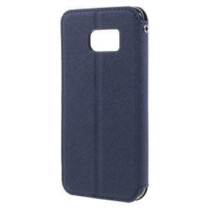 Diary pouzdro s okýnkem na Samsung Galaxy S7 - tmavěmodré - 2