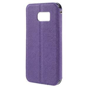 Diary pouzdro s okýnkem na Samsung Galaxy S7 - fialové - 2
