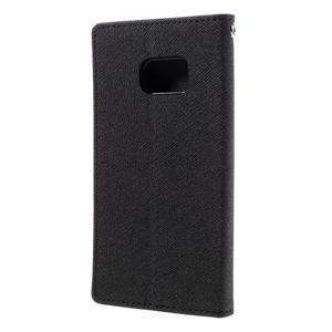 Goosper PU kožené pouzdro na Samsung Galaxy S7 - černé - 2
