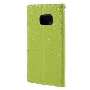 Goosper PU kožené pouzdro na Samsung Galaxy S7 - zelené - 2