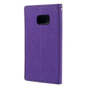 Goosper PU kožené pouzdro na Samsung Galaxy S7 - fialové - 2