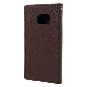 Goosper PU kožené pouzdro na Samsung Galaxy S7 - hnědé - 2