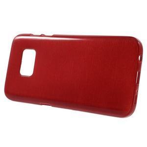 Brush gelový obal na mobil Samsung Galaxy S7 - červený - 2