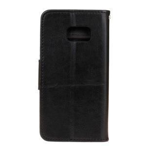 Stand peněženkové pouzdro na Samsung Galaxy S7 - černé - 2