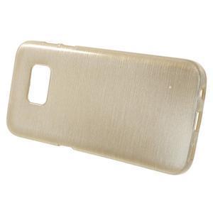 Brush gelový obal na mobil Samsung Galaxy S7 - zlatý - 2