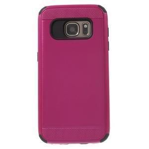 Dvoudílný odolný kryt na Samsung Galaxy S7 - rose - 2