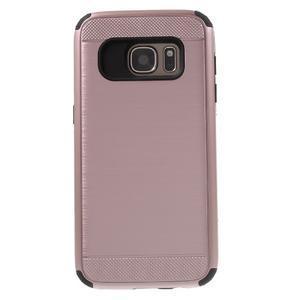 Dvoudílný odolný kryt na Samsung Galaxy S7 - zlatorůžový - 2