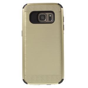 Dvoudílný odolný kryt na Samsung Galaxy S7 - zlatý - 2