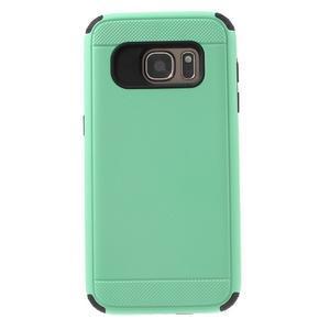 Dvoudílný odolný kryt na Samsung Galaxy S7 - cyan - 2