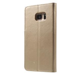 Sonata PU kožené pouzdro na Samsung Galaxy S7 - zlaté - 2