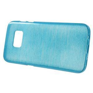 Brush gelový obal na mobil Samsung Galaxy S7 - modrý - 2