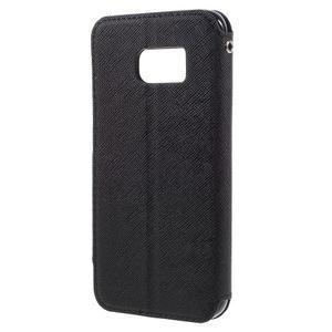 Diary pouzdro s okýnkem na Samsung Galaxy S7 - černé - 2
