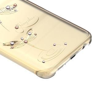Swarovski plastový obal s kamínky na Samsung Galaxy S7 - vážky - 2