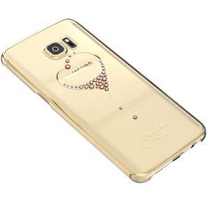 Swarowski plastový obal s kamínky na Samsung Galaxy S7 - srdce - 2
