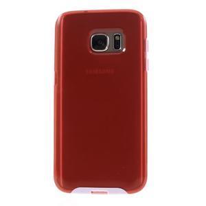 Dvoudílný obal na mobil Samsung Galaxy S7 - červený - 2
