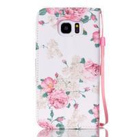 Květinové peněženkové pouzdro na Samsung Galaxy S7 Edge - 2/5