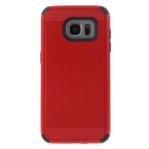 Odolný dvoudílný obal na Samsung Galaxy S7 edge - červený - 2