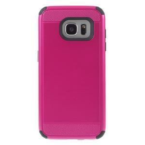 Odolný dvoudílný obal na Samsung Galaxy S7 edge - rose - 2