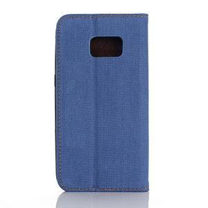Jeans pouzdro na mobil Samsung Galaxy S7 edge - modré - 2