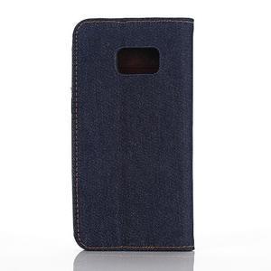 Jeans pouzdro na mobil Samsung Galaxy S7 edge - tmavěmodré - 2