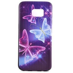 Backy gelový obal na Samsung Galaxy S7 edge - kouzelní motýlci - 2