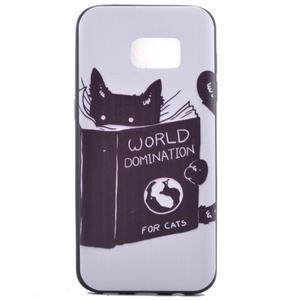 Backy gelový obal na Samsung Galaxy S7 edge - kočka - 2