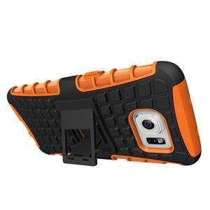 Odolný outdoor kryt na Samsung Galaxy S7 edge - oranžový - 2