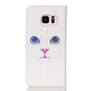 Cross peněženkové pouzdro na Samsung Galaxy S7 edge - kočička - 2
