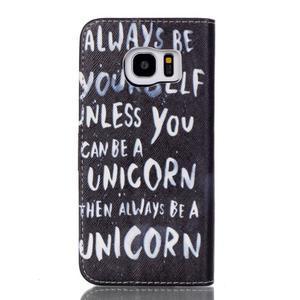 Cross peněženkové pouzdro na Samsung Galaxy S7 edge - unicorn - 2